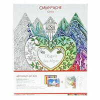 Caran D'Ache Art Therapy Gift box: Luxury Colouring Book and Pencils