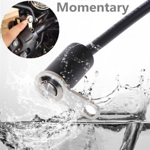 Push Momentary Switch Motorcycle Handlebar Screw Mount Waterproof Thumb Button