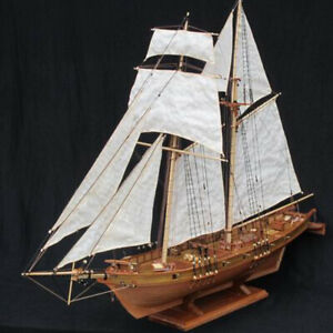 1:100 New Wooden Sailing Boat Model DIY Kit Ship Assembly Decoration Kids Gift