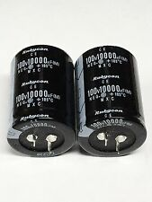 2PCS Rubycon 10000UF 100V Electrolytic  Capacitor 105℃ 35X50mm #E153 YX