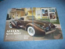 The Classic Factory Auburn Speedster Vintage Info Article --From 1982--
