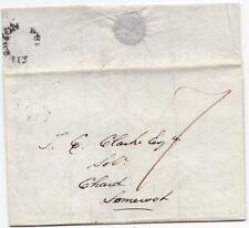! 1828 TIVERTON UDC MILEAGE PMK DEVON LETTER TO T E CLARKE AT CHARD RE ANNUITY