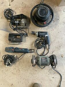used power tools lot Bench grinder /jigsaw /buffer/drill