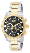 Invicta Specialty 15370 Men's Round Black Chronograph Analog Gold Tone Watch