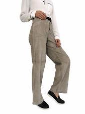 Femme Jambe Large Vintage taille haute Casual Velours Côtelé Pantalon Pantalon UK - 12 L