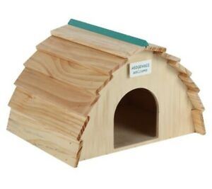 Wooden Hedgehog House, 30cm. Brand New