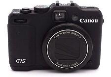 Canon PowerShot G15 12.1MP Digital Camera - Black - NO ACCESSORIES