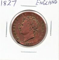 England 1827 Half Penny King George IV as pictured