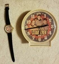 Star Trek The Original Series Vintage Alarm Clock and Watch - Both Non- Working