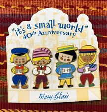 Disney Small World Mary Blair Anniversary 4 Pin Set with Italy Egypt ExHTF
