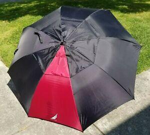 Red Black Nautica RN-51207 Large Umbrella Soft Comfort Grip Handle Vented Golf