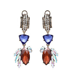 MARNI H&M Geometric Crystal Pendant Earrings