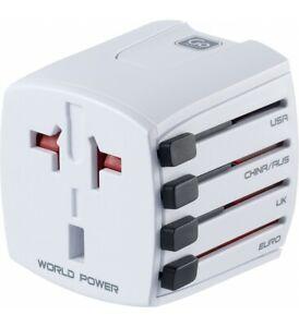 GO Travel Universal Worldwide Adaptor Compact Travel Plug (Non-earthed) 401
