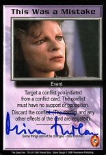 Babylon 5 Ccg Mira Furlan The Great War This Was a Mistake Autographed