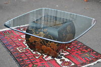 Drexel Heritage Oriental Style Glass Top Table