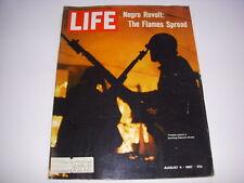 LIFE Magazine, August 4, 1967, Detroit Negro Revolt, Carl Sandburg, 60's Fashion
