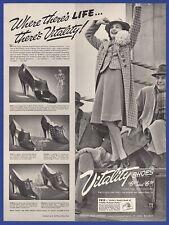 Vintage 1939 VITALITY SHOES Edith Sibyl Fantella Milbrey Bahama 1930's Print Ad