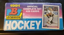 NEW Factory Sealed 1991-92 Bowman Hockey Wax Box 36 Packs Complete Set 429 Cards
