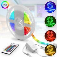 RGB LED Stripe Streifen Farbwechsel Lichtleiste Lichterkette Fernbedienung 5M