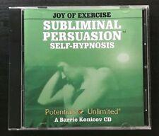 Joy of Exercise - Subliminal Persuasion - Self-Hypnosis, Barrie Konicov Audio CD