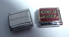 CHOCOLATE LOVER 9mm Italian Charm + 1x Genuine Nomination Classic Link I LOVE
