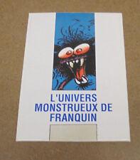 FRANQUIN - L'UNIVERS MONSTRUEUX - MINI PORTFOLIO - 8 CARTES ( TBE )