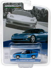 GREENLIGHT 2012 CHEVROLET CORVETTE C6 SUPERSONIC BLUE 1/64 MODEL CAR 27870 B