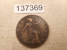 1918 Great Britain Penny Better Date - Collector Grade Album Coin - # 137369