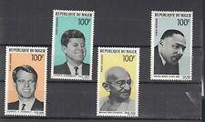 Niger 1968 FOGLIETTO Serie A9497 John & Robert kenndey  Gandhi Luther King MNH**