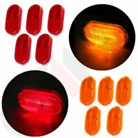 10X Amber/Red 4'' Oval  6Diodes Side Marker Clearance Light Trailer Camper Truck