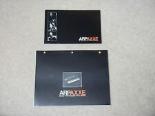 Original ARP AXXE Owners Manual & Music Synthesizer Patch Book + record sheets