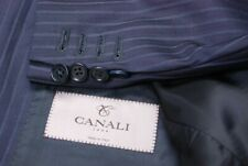 CANALI 1934 men's full suit navy blue pinstripe dual vent EU 54R US 42R