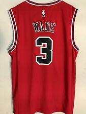 Adidas NBA Jersey Chicago Bulls Dwayne Wade Red sz M