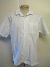 "Ralph Lauren POLO men's White short Sleeved Casual Shirt Regular Fit  L 42-46"""