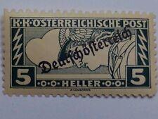 AUSTRIA POSTAGE STAMP-KK OSTERREICHISCHE POST 5 HELLER MERCURY-LIGHTNING BOLTS.