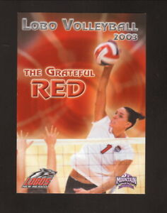 New Mexico Lobos--2003 Volleyball Pocket Schedule--Pizza Hut/Sprint