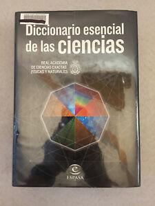 Diccionario Esencial de Las Ciencias Spanish Science Dictionary Hardcover Ex-Lib