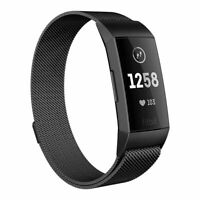 For Fitbit Charge 2 Wristband Stainless Steel Milanese Magnetic Loop Band Strap