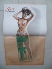 Selten Magazin Paris Hollywood Nr. 72 + Pin-Up Déshabillable (Fin Jahre 40)