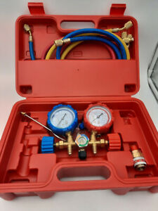 Pro AC A/C Diagnostic Manifold Freon Gauge Set For R134A R12 R22,USED