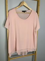 Bird by Design Size 16 XL Pink Blouse Ladies Chiffon Top Made in Australia