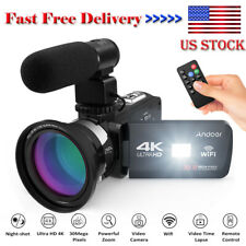 Andoer 4K Ultra HD WiFi Digital Video Camera Camcorder DV Recorder + Microphone