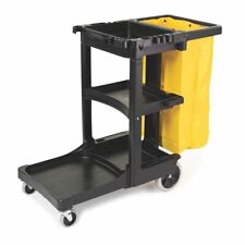Rubbermaid Janitor Cart Cleaning Cleaner Wheeled Mobile Trolley Bag VAT Invoice