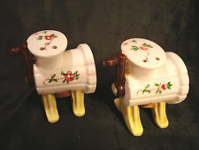 Vintage......Wine Presses.....Salt & Pepper Shakers  -  (Lefton, Japan)