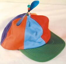 HELICOPTER BASEBALL HAT CRAZY WITH A PROPELLER spinning dunce ball cap adult new