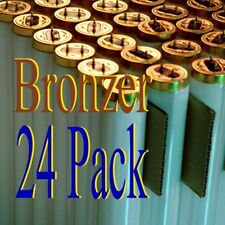 24 Pk 100W  tanning bed Hot Bronzer lamps/bulbs F71 FREE pair of soft eye pod