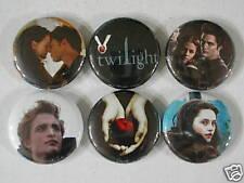 Twilight 6 Pins Button Badge Movie Book Edward Bella El