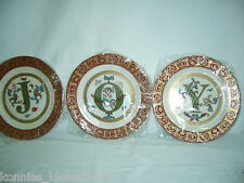 """Home Interiors Decorative Initial Plates - You Choose Initial, """"O"""" Or """"Y"""" (New)"""