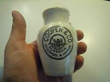 ANTICO VASETTO IN CERAMICA COOPER & CO GLASGOW - Liverpool & London 1920ca (VG)