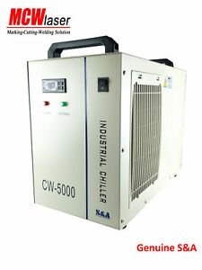 S&A Genuine CW-5000BH water Chiller CNC spindle welding solid-state laser 110V